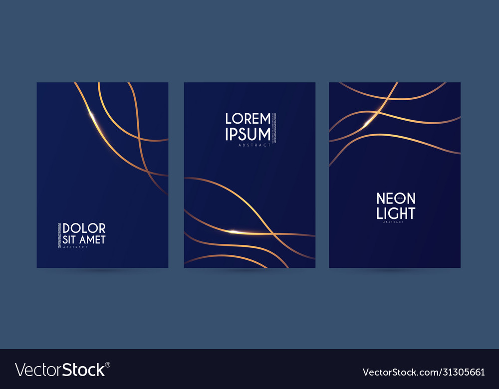 Abstract geometric flyer collections with light vector