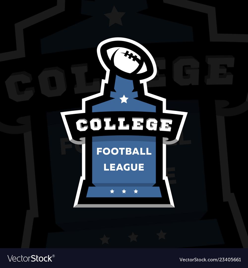 American football college league logo on a dark