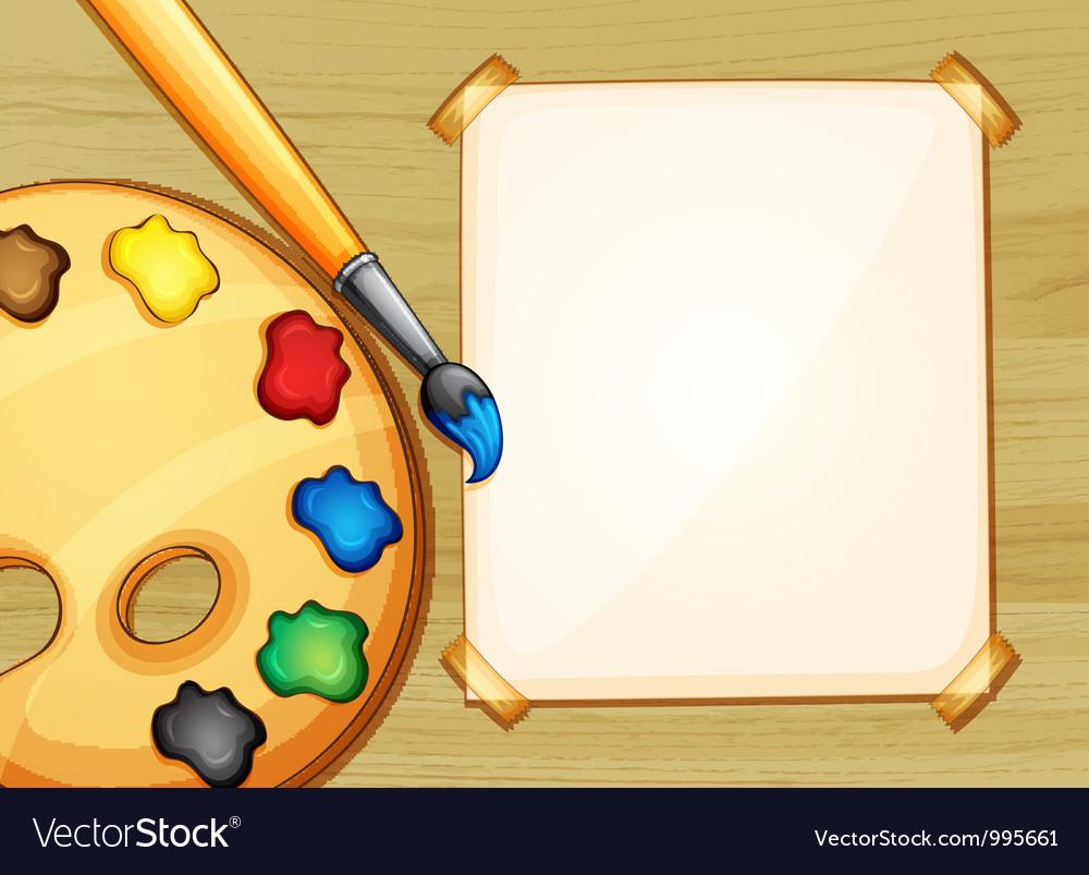Painting setup vector image
