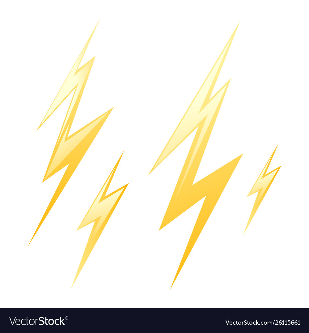 Set yellow lightning