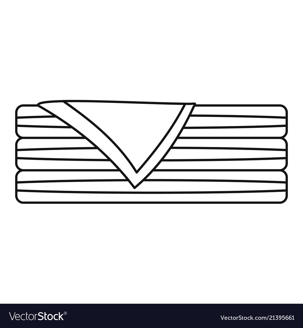 Sorted towel icon outline style