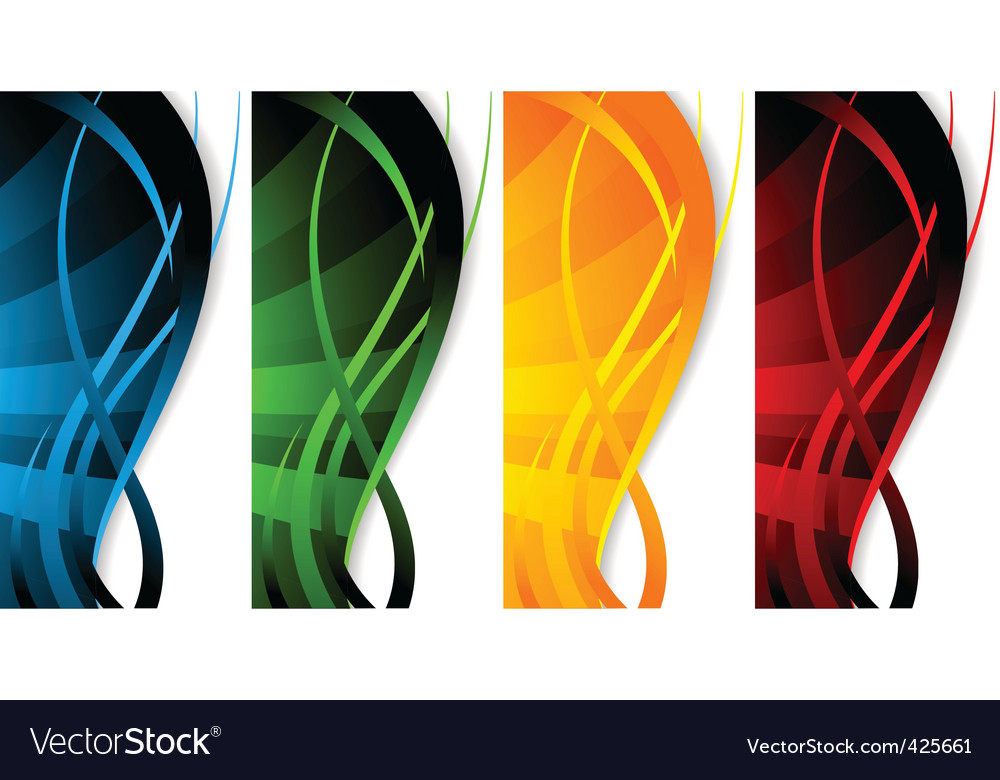 Vector set of banners