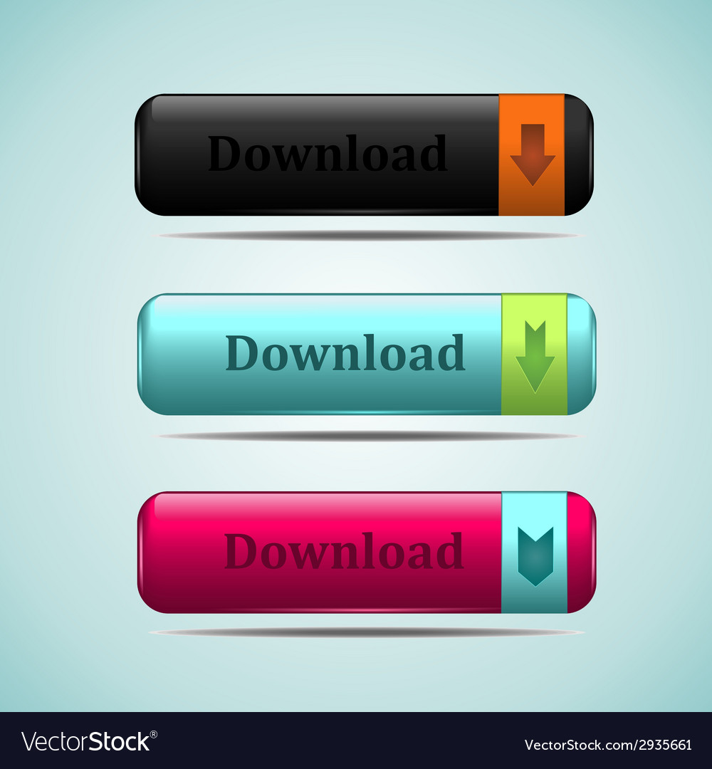 Web button download vector image