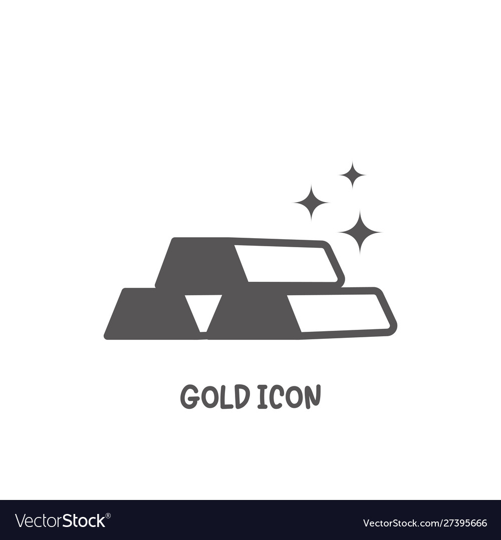 Gold icon simple flat style