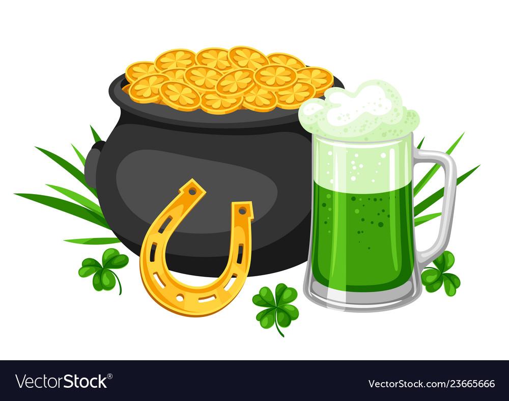 Saint patricks day pot beer and