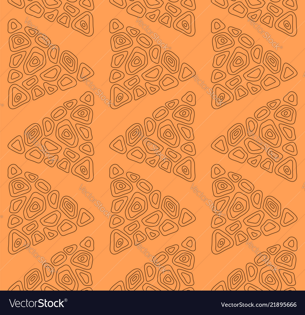 Seamless pattern with abstract triangles