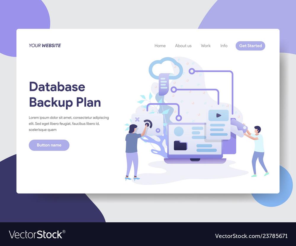 Database backup plan concept
