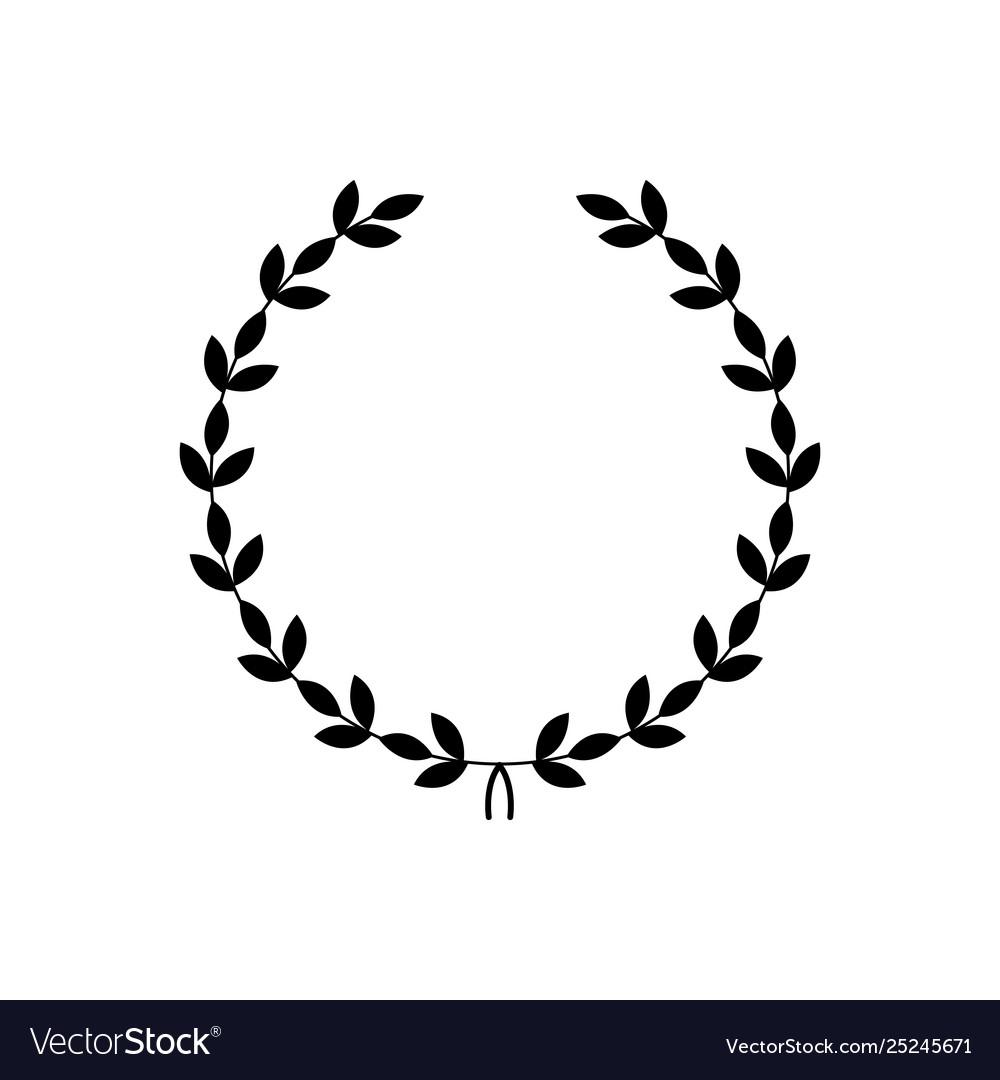 Decorative Black Wreath Award Symbol Royalty Free Vector