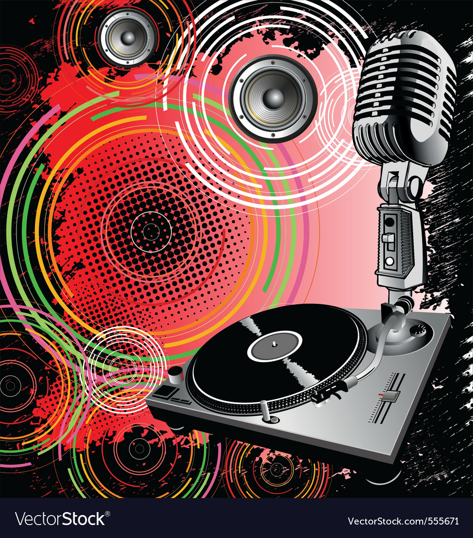 dj poster background  Dj background Royalty Free Vector Image - VectorStock