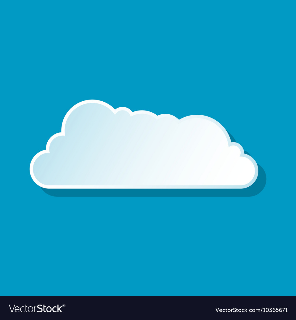 Drifting cloud icon vector image