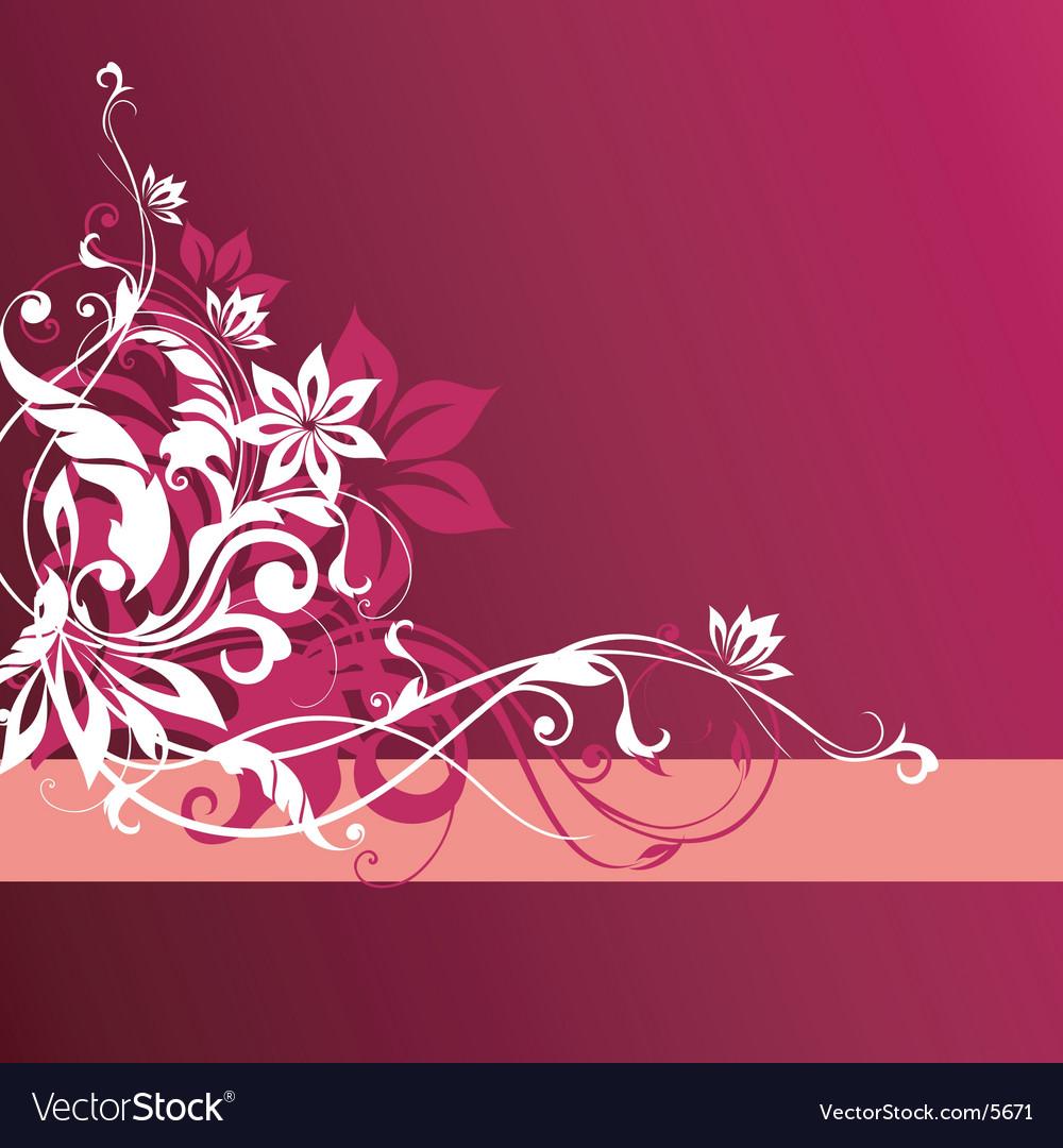 Floral graphic elements