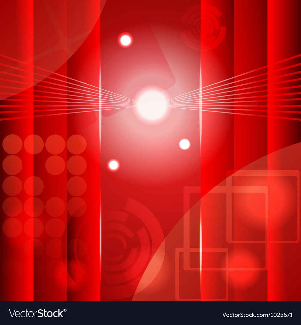 Red abstract background vector image