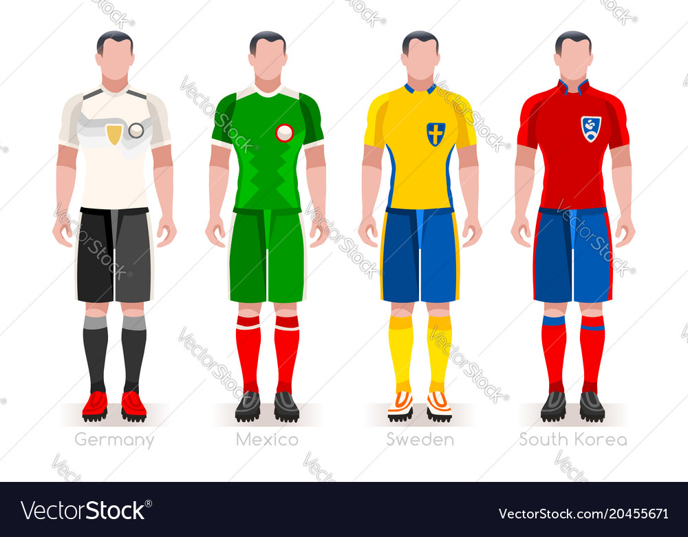 db8ecee99 World cup group f jerseys kit Royalty Free Vector Image