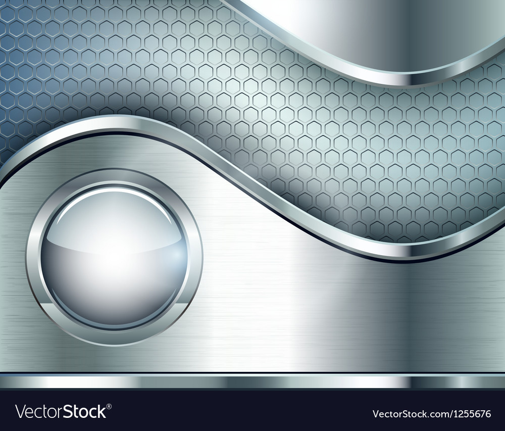 Abstract background with a metallic element