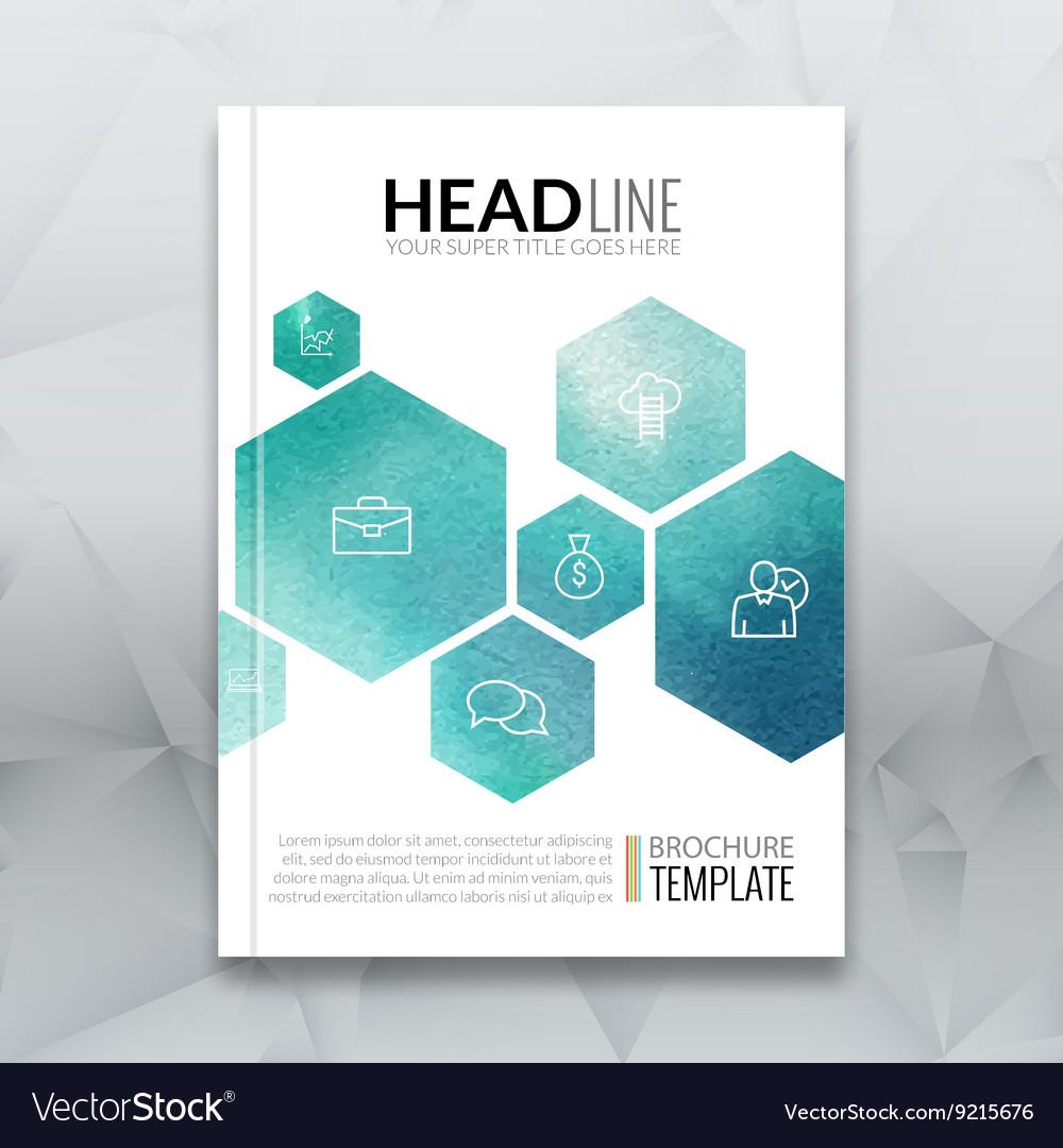 Business brochure report design template