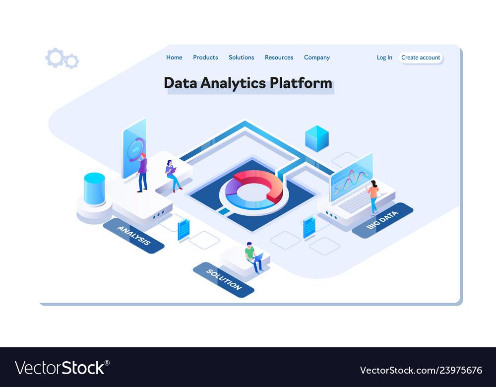 Data analytics platform isometric