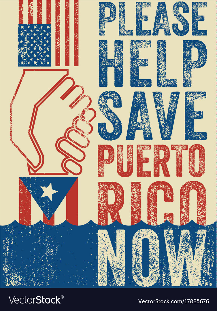 Help save puerto rico poster