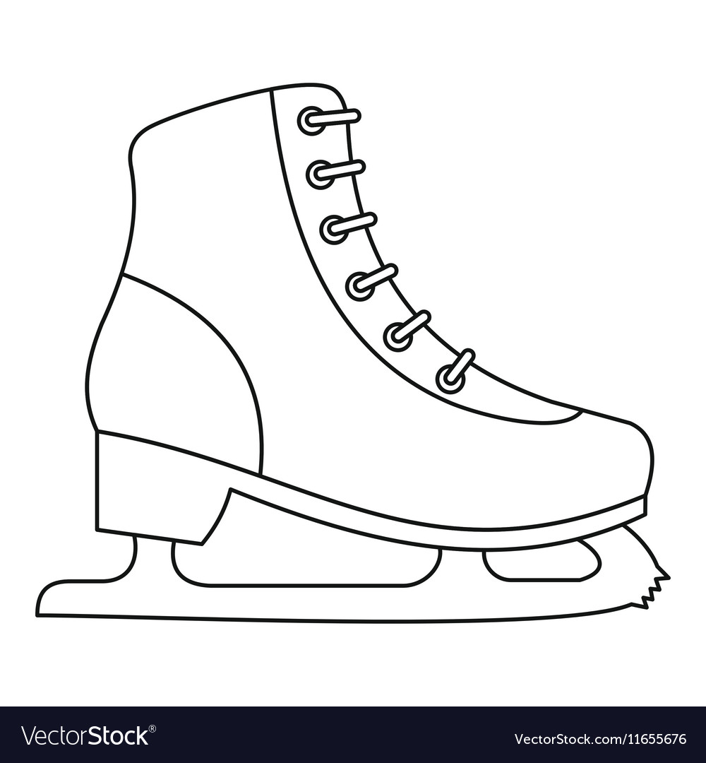 Ice Skate Icon Outline Style Royalty Free Vector Image