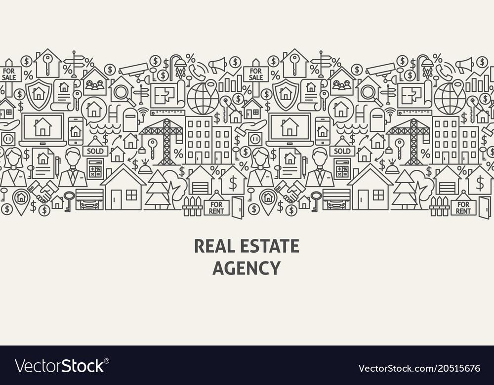Real estate agency banner concept