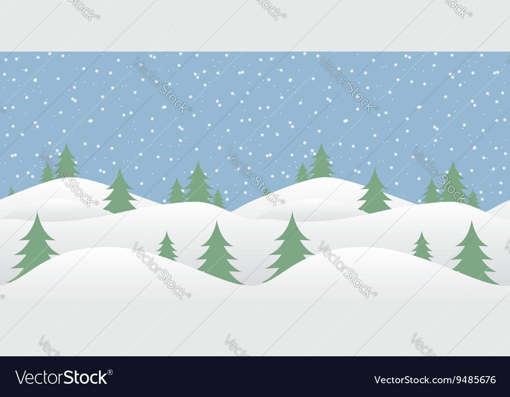 Seamless winter background with falling snow