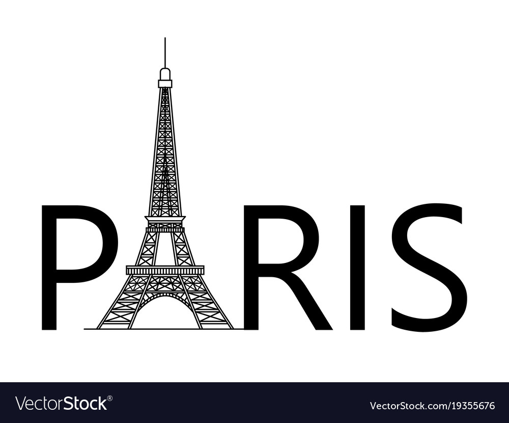 Silhouette Of The Eiffel Tower Royalty Free Vector Image