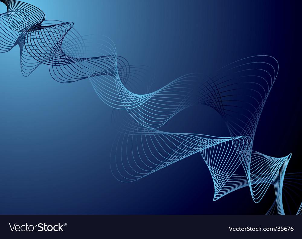Wobble blue vector image