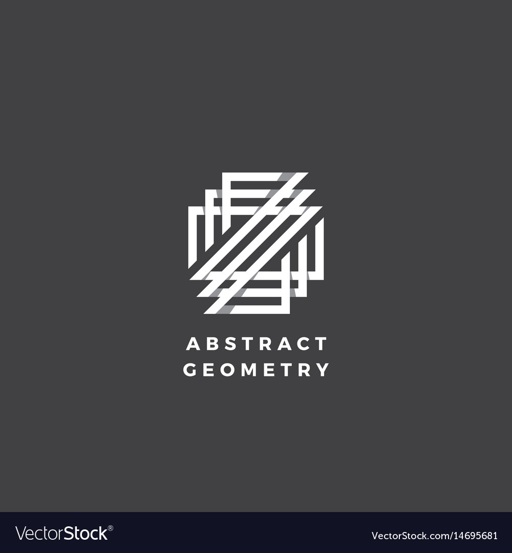 Abstract geometry minimal sign symbol or