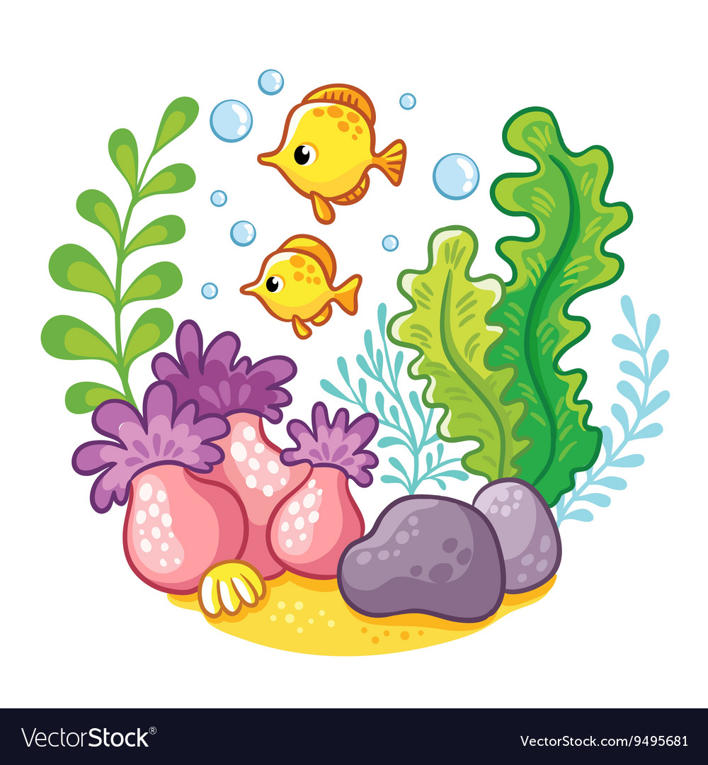 Artoon underwater life