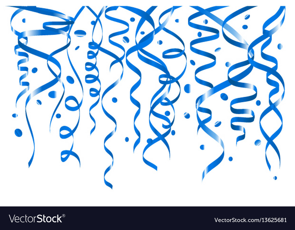 Blue confetti background seamless horizontal