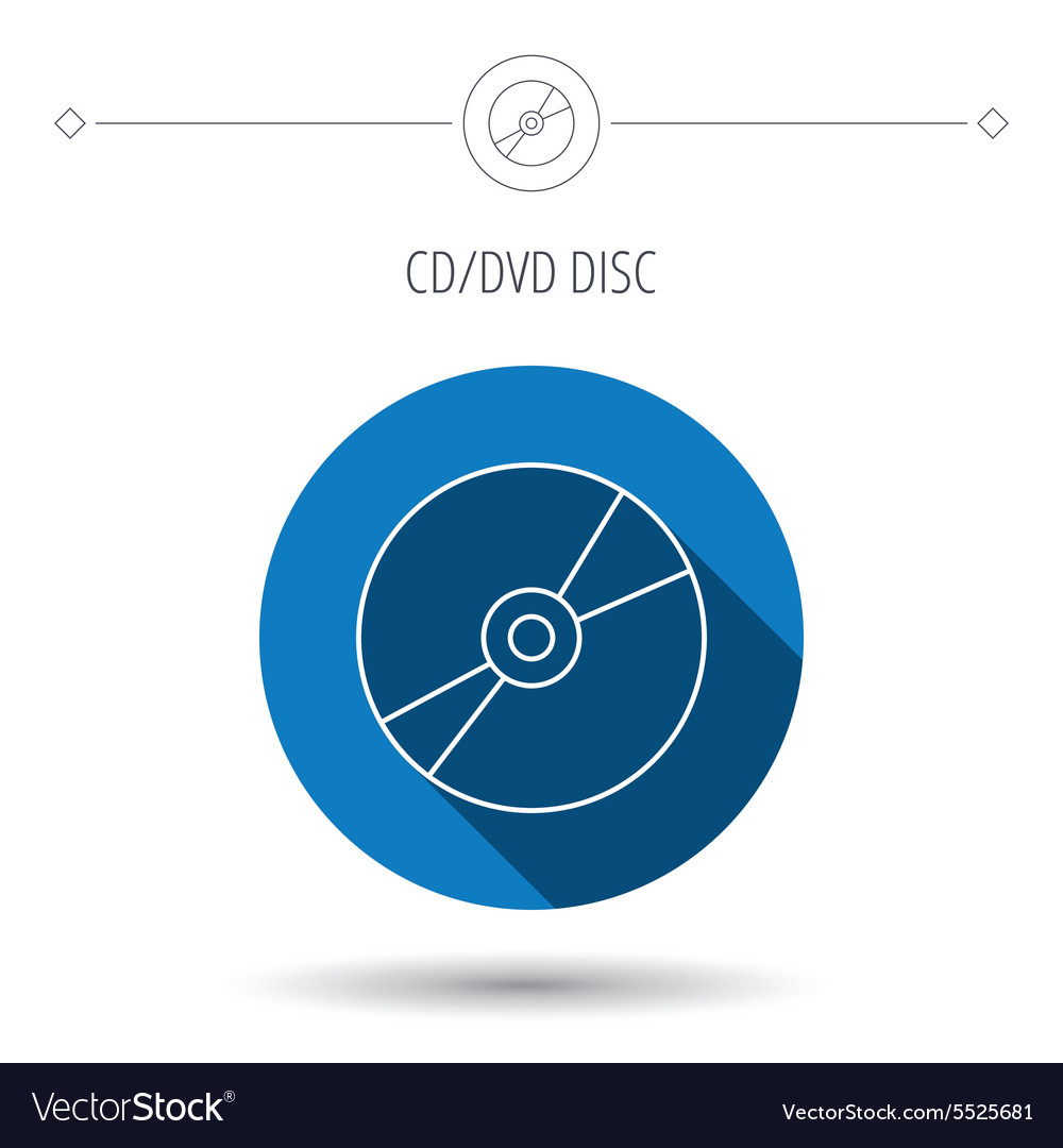 CD or DVD icon Multimedia sign