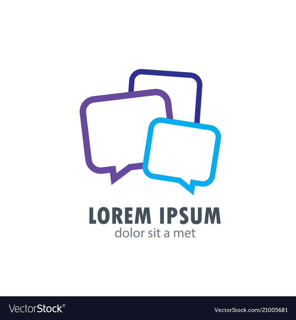 Chat bubble messenger communication logo
