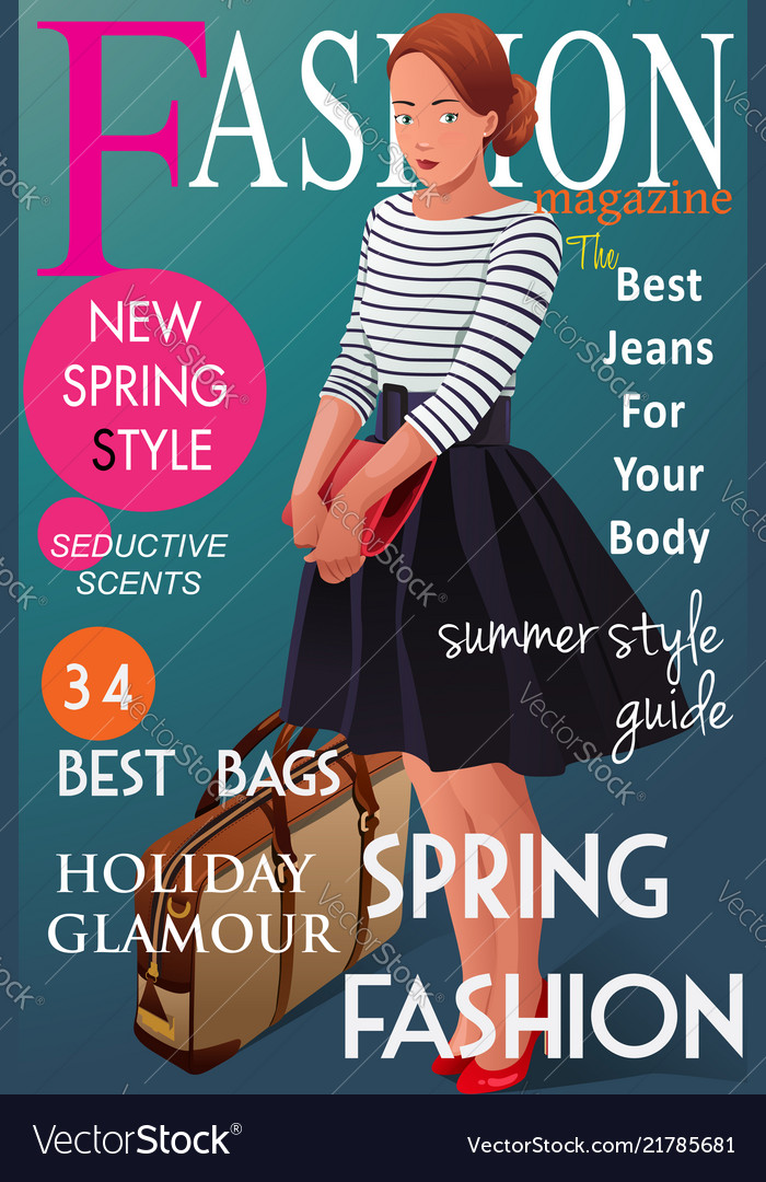 Fashion Magazine Cover Royalty Free Vector Image