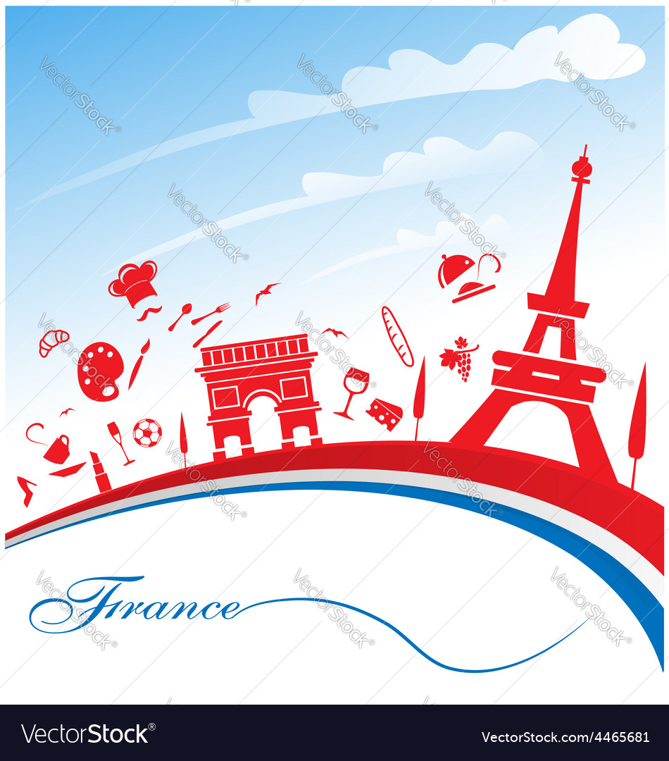 France background with flag