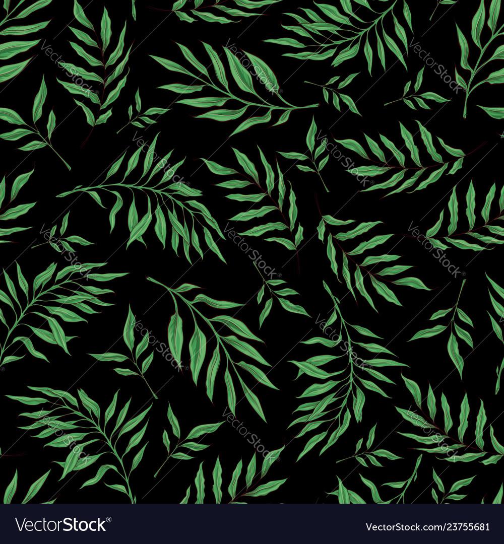 Hand drawn seamless pattern with stylized