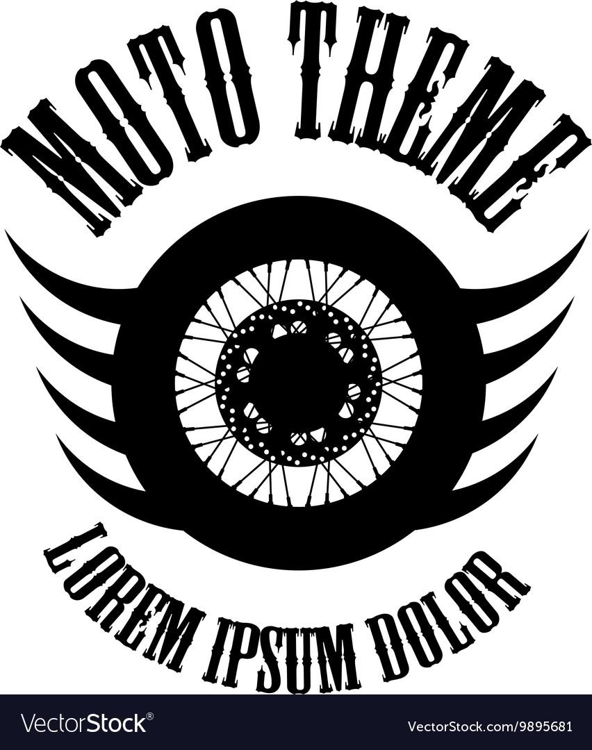 Moto wheel Logo Symbol