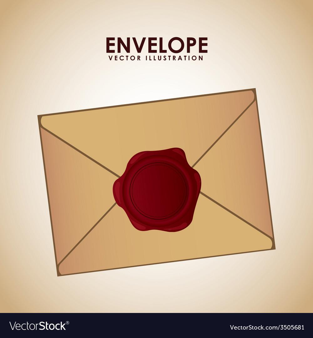Seal envelope vector image