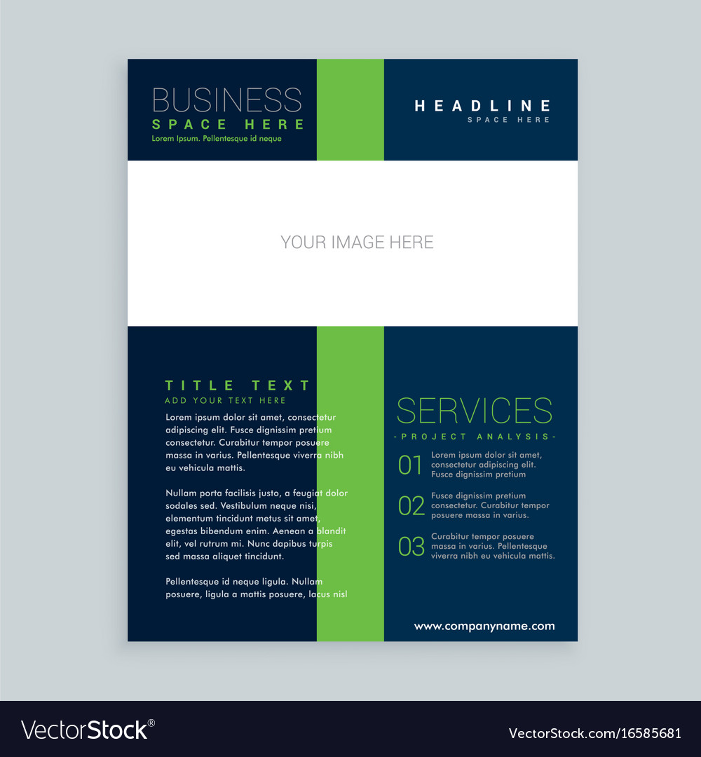 Simple Brochure Cover Flyer Template Design For Vector Image