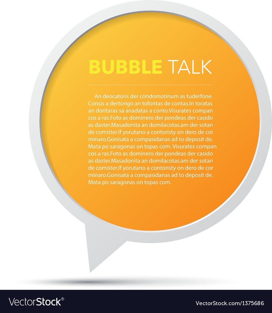 3D bubble talk frame Design element EPS10
