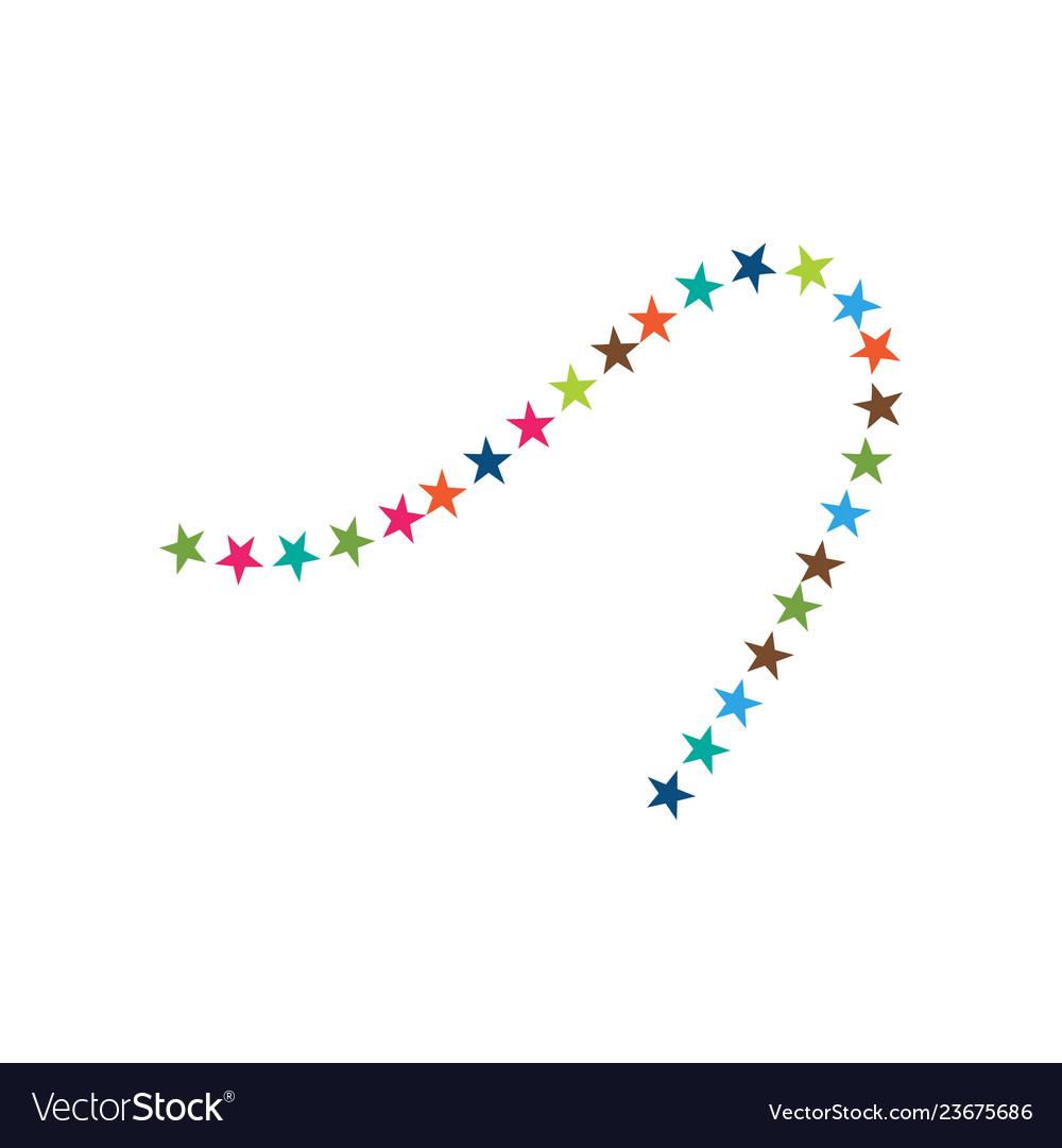 Decorative star icon graphic design template