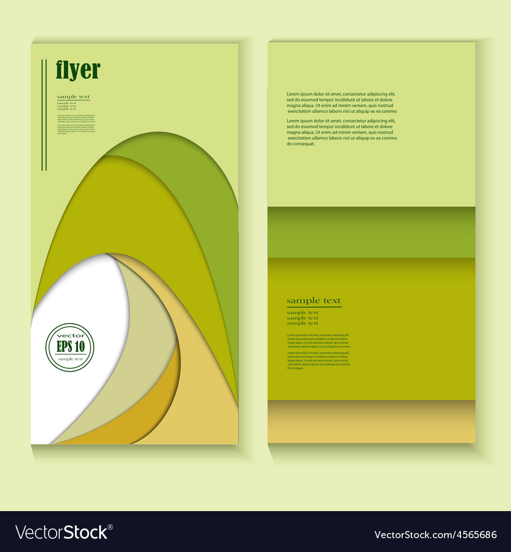 Flyer with abstract green pattern