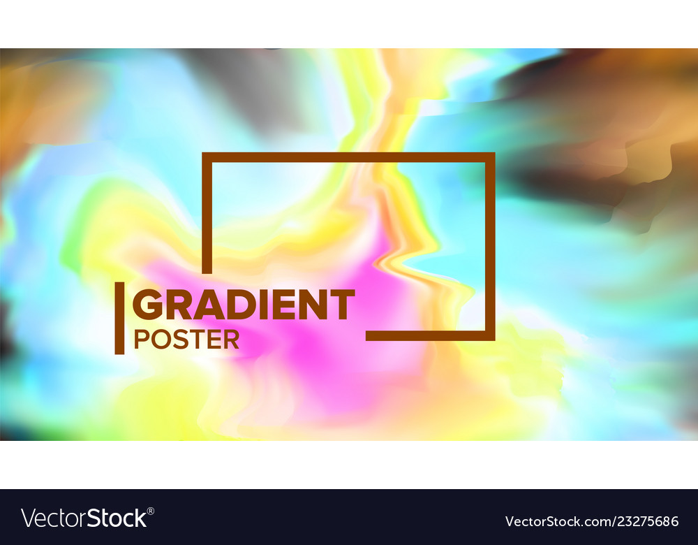 Gradient fluid background dynamic layout