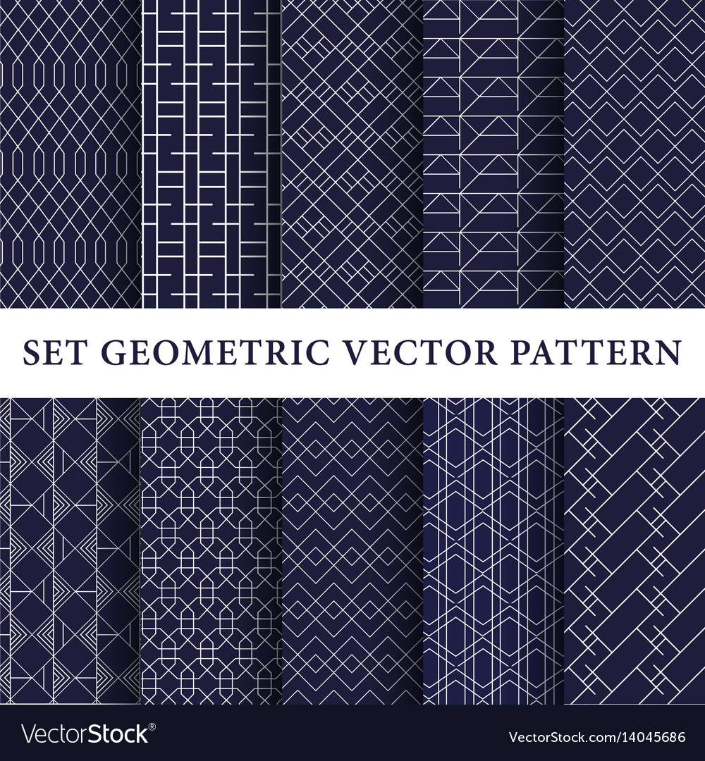Luxury patterns pack vector image
