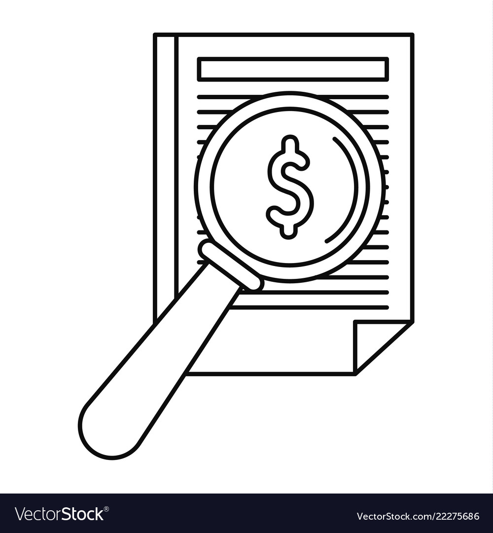 Payment paper icon outline style