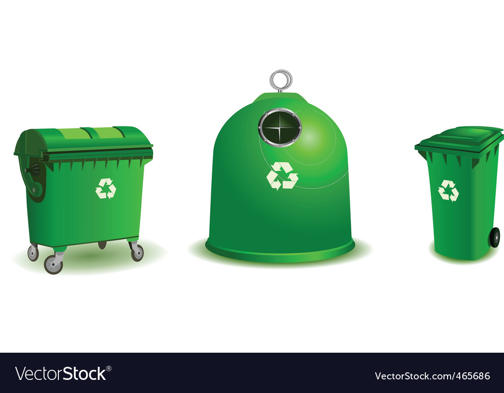 Recycle bins vector image