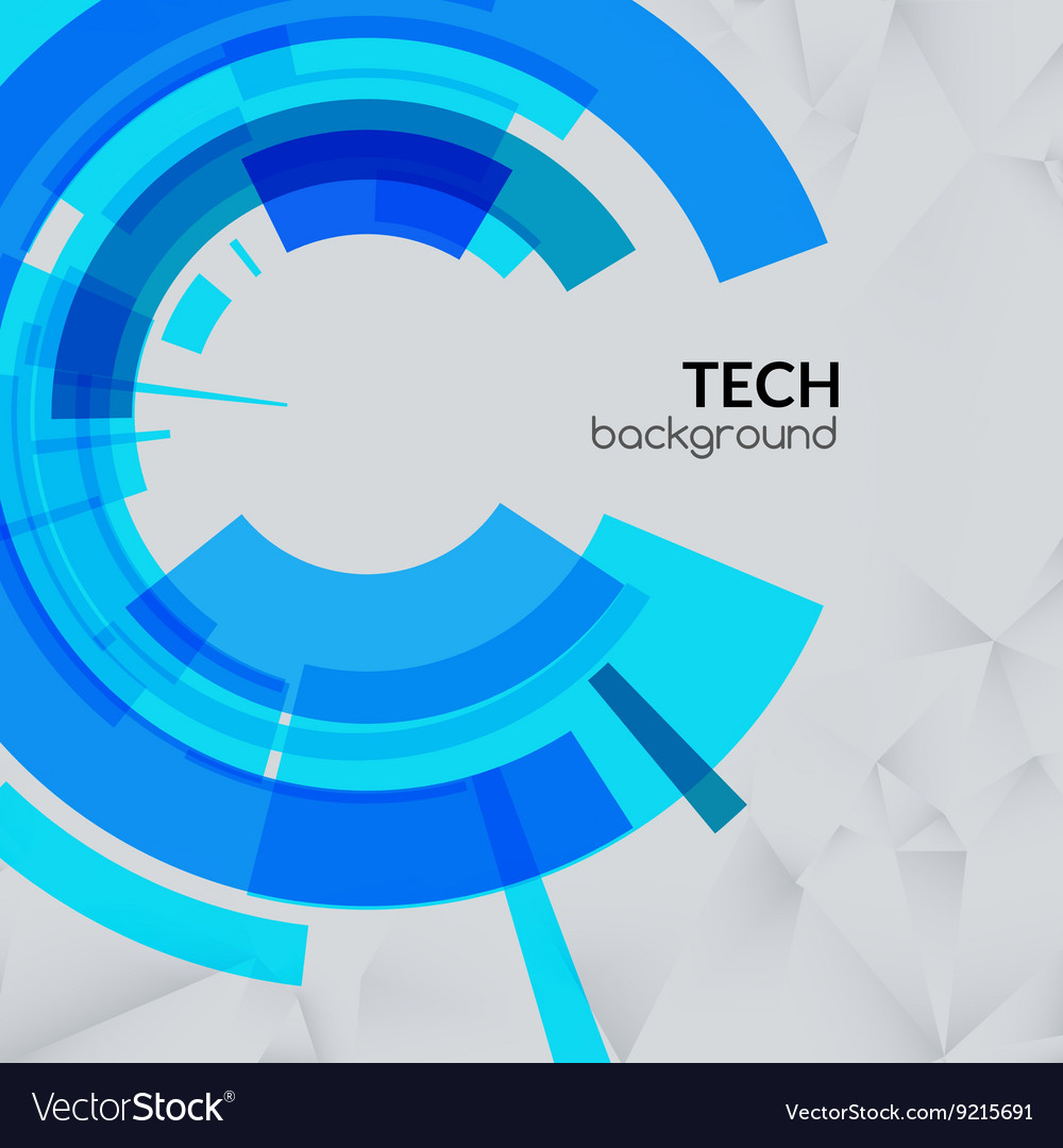 Abstract blue technical triangle background with
