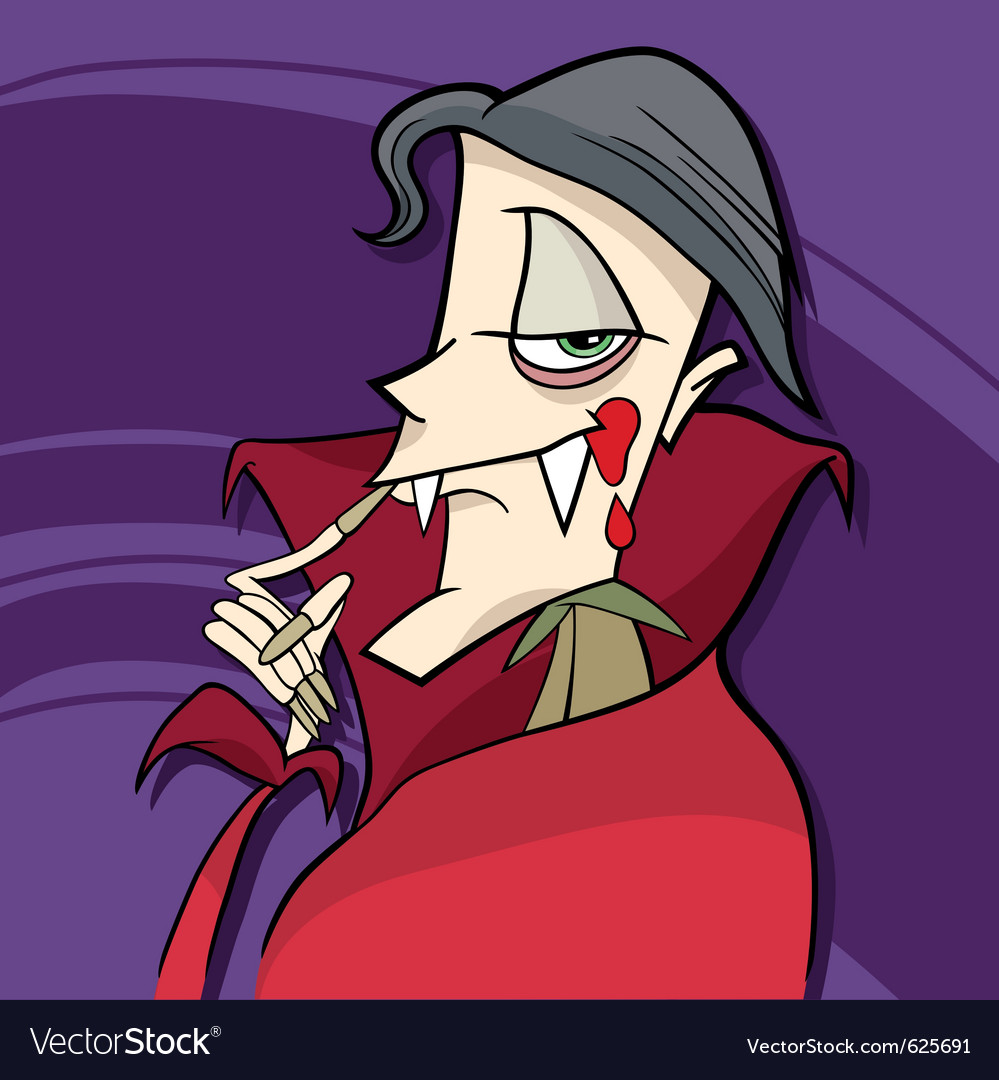 Cartoon of funny vampire