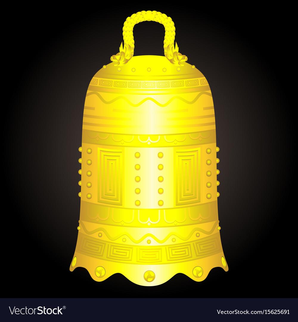 Chinese golden bell artifact