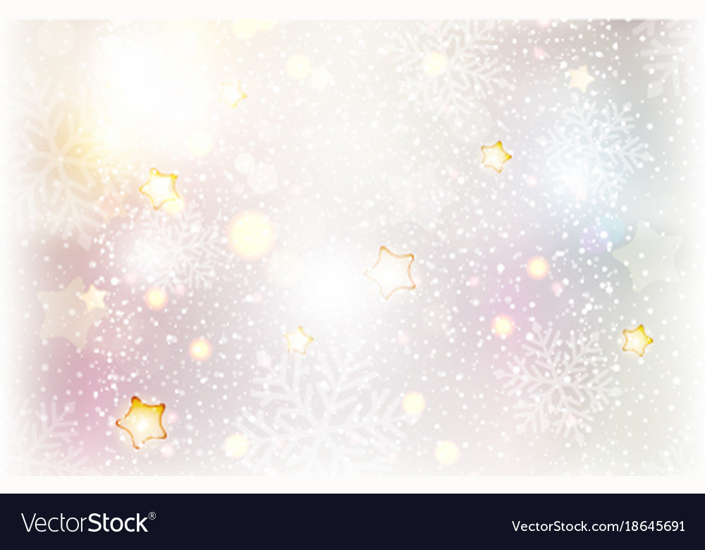 Christmas stars and snowflake background