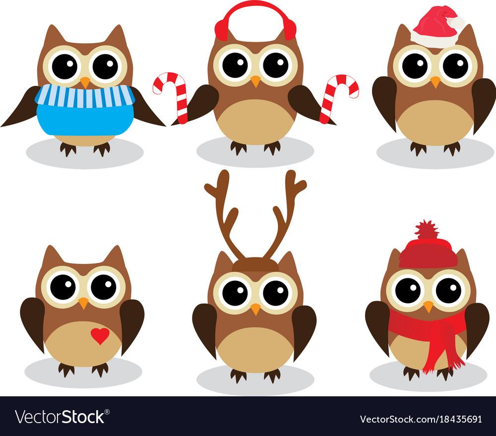 Fun owls vector image