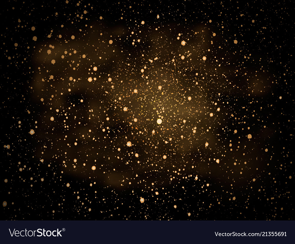 Gold glitter particles background for